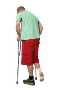 broken leg resulting from car accident